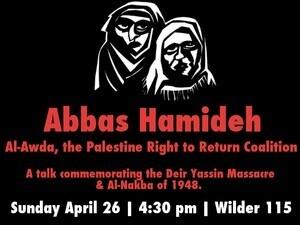 Remembering Al-Nakba: A Talk by Abbas Hamideh