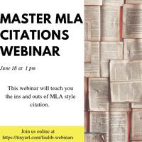 Master MLA Citations Webinar