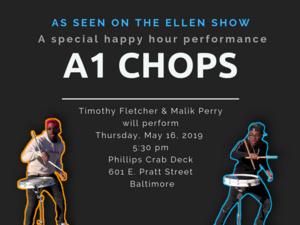 Timothy and Malik of A1 Chops to Appear  on the Phillips Crab Deck