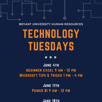 Technology Tuesday - Advanced Excel