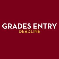 Grades entry deadline