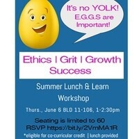 Summer Lunch & Learn, It's No YOLK! EGGS are important!
