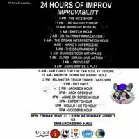 24 HOURS OF IMPROV–IMPROVABILITY