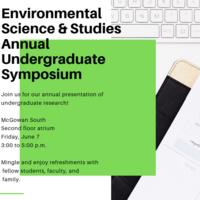 Environmental Science and Studies annual Undergraduate Symposium