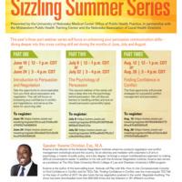 Sizzling Summer: Persuasive Communication Seminar Series