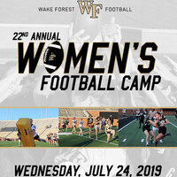 Wake Forest Women's Football Camp