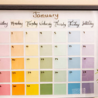 DIY Paint Chip Calendars