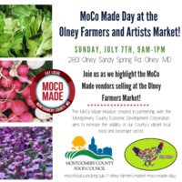 MoCo Made Day at the Olney Farmers Market