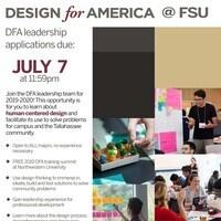 Design For America leadership team application deadline
