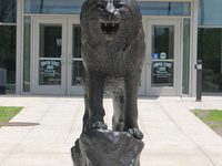 Bobcat Statue - Homecoming Weekend 2019