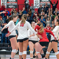 Southern Oregon University Volleyball vs Northwest Christian (Semifinals)