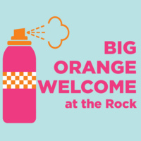 Big Orange Welcome at the Rock