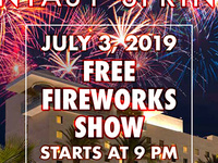 July 4th a day Early - Fantasy Springs Free Fireworks Show