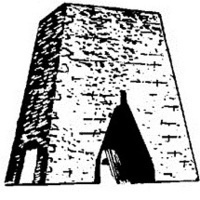 Old Stone Furnace Stack. Historic Walking Tour from Past to Present