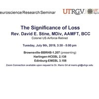 Neuroscience Research Seminar Series with Rev. David E. Stine