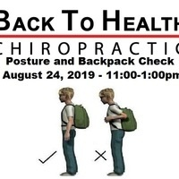 FREE Back to School Backpack and Posture Check-Up