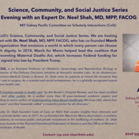 Sidney Pacific CoSI Lecture -  Science, Community, and Social Justice Series | Evening with an Expert Dr. Neel Shah, MD, MPP, FACOG