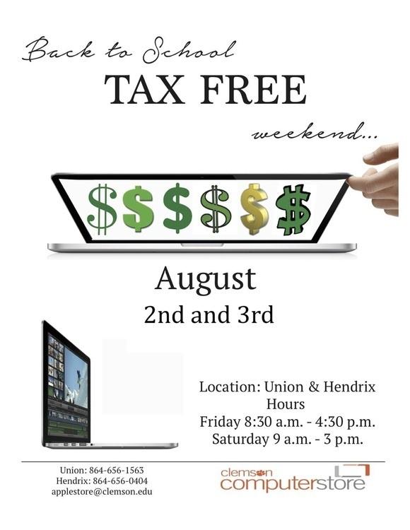 SC Tax Free Weekend