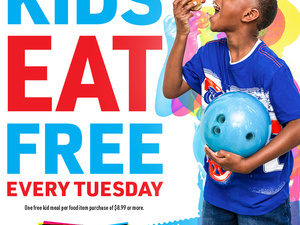 Main Event Launches Kids Eat Free Every Tuesday!
