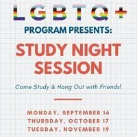 LGBTQ+ Study Night Session