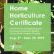 Washoe County Master Gardener Home Horticulture Certificate Program