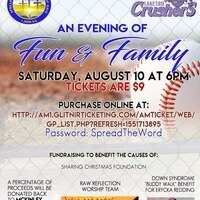 AUGUST 10, 2019 FUN FAMILY FUNDRAISING EVENT AT LAKE ERIE CRUSHER'S.