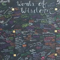 Lions Roar: Words of Wisdom Wall