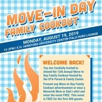 Parent & Family Center's Move-In Day Family Cookout