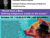 Words from a Bear:  Defining Indigenous orality on the screen.
