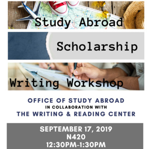 Study Abroad Scholarship Writing Workshop