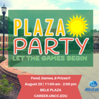 University Career Center hosts the Plaza Party