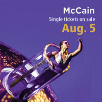 McCain Performance Series single tickets on sale