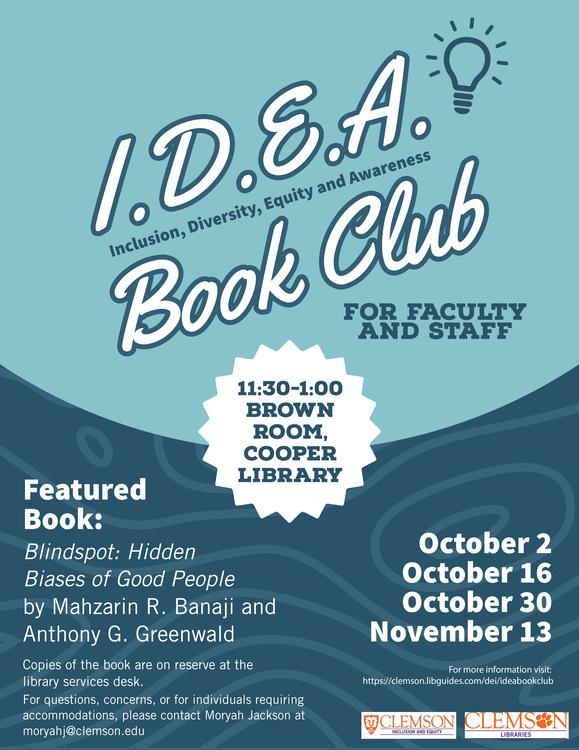 I.D.E.A. Book Club Brown Bag Discussion Series