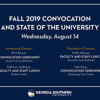 Convocation/State of the University (Statesboro Campus)