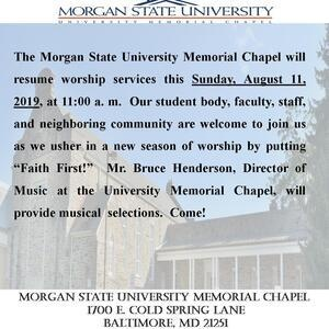 Chapel Resumes Worship Services for Fall Semester