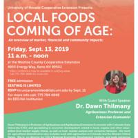 Dr. Dawn Thilmany Talk