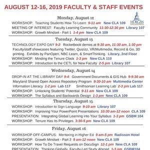 Faculty/Staff Enhancement Week