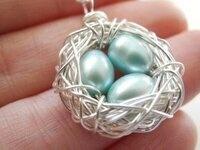 Garden Creativity: Bird Nest Necklaces