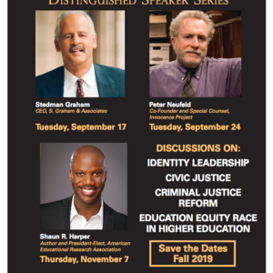 Presidential Distinguished Speaker Series Fall Line Up