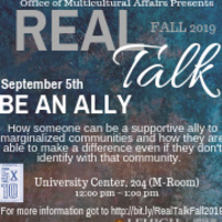 Real Talk Series: Be an Ally | Multicultural Affairs