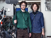 """Milstein Students' Sound Master Class: Recording the Human Voice with """"The World According to Sound"""" Podcasters, Chris Hoff and Sam Hartnett"""
