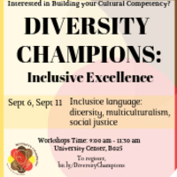 Diversity Champions: Inclusive Excellence | Multicultural Affairs