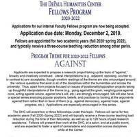 Humanities Center Faculty Fellows Application DEADLINE
