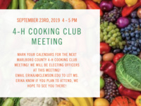 Marlboro 4-H Cooking Club Meeting