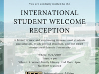 International Student Welcome Reception