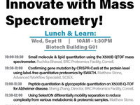 Lunch and Learn: Innovate with mass spectrometry