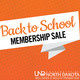 Back to School Membership Sale!