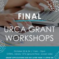 *FINAL* URCA Grant Workshop