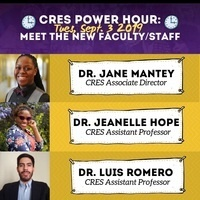CRES Power Hour: Meet New  Faculty