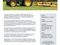 Initial Private Pesticide Applicator Training